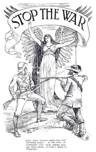 Anti-war image by Walter Crane, 1899, protesting against the Boer War.