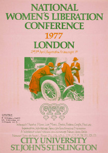 Poster for National Women's Liberation Movement conference, London 1977.