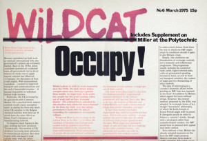 Wildcat newspaper front page, March 1975.
