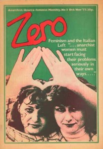 Cover of Zero, anarcha-feminist monthly, 1977